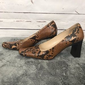 Via Spiga Snakeskin Pattern Heels Size 7 Narrow